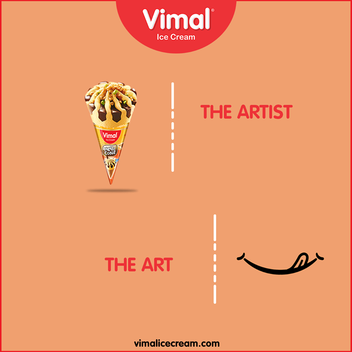 Here is the master artist who can melt hearts and revive the art of smiling in a signature style  #TheArtVsTheArtist #TrendingNow #TrendingFormat #Trending #TrendSpot #VimalIceCream #Icecreamisbae #Happiness #LoveForIcecream #IcecreamTime #IceCreamLovers #FrostyLips #Vimal #IceCream #Ahmedabad