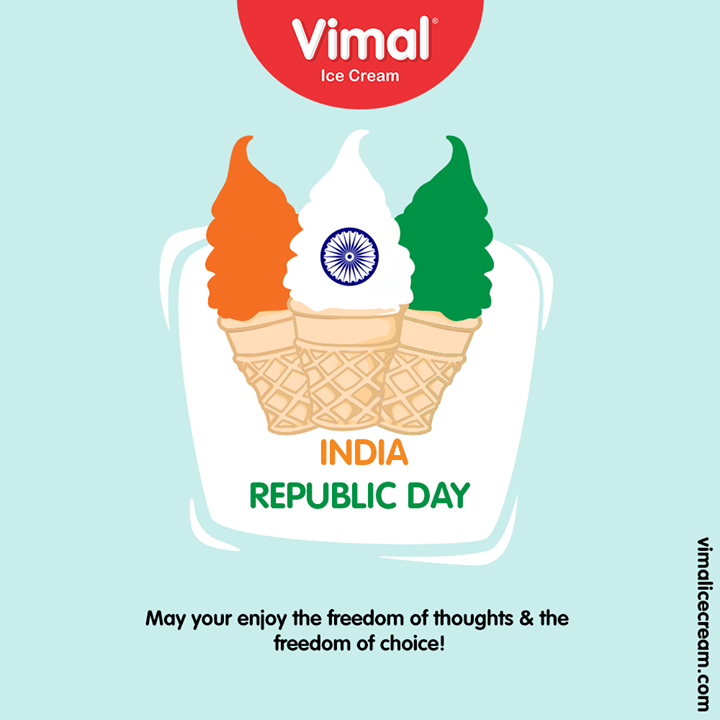 Vimal Ice Cream,  HappyRepublicDay, RepublicDay, 26thJanuary, IndianRepublicDay, ProudToBeIndian, VimalIceCream, Icecreamisbae, Happiness, LoveForIcecream, IcecreamTime, IceCreamLovers, FrostyLips, Vimal, IceCream, Ahmedabad