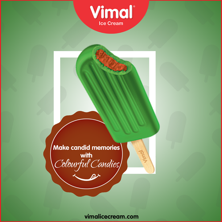 Make candid memories with the cool and colourful candies.  #LoveForIcecream #IcecreamTime #IceCreamLovers #FrostyLips #Vimal #IceCream #VimalIceCream #Ahmedabad