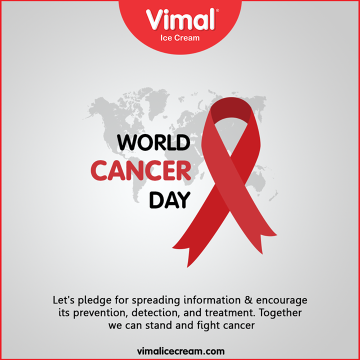 Let's pledge for spreading information & encourage its prevention, detection, and treatment. Together we can stand and fight cancer.  #WorldCancerDay #cancerday #Cancer #WorldCancerDay2020 #cancerawareness #nevergiveup #IAmAndIWill #IcecreamTime #IceCreamLovers #FrostyLips #Vimal #IceCream #VimalIceCream #Ahmedabad