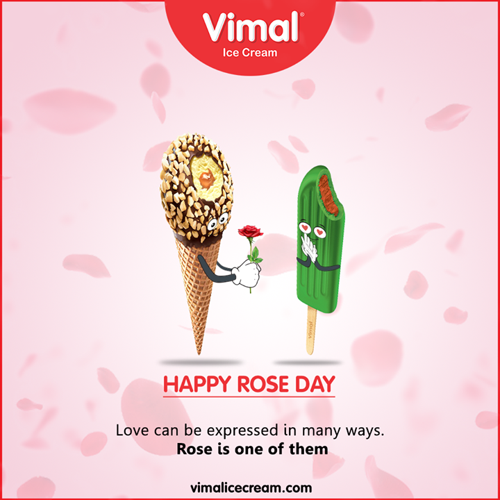 Love can be expressed in many ways. Rose is one of them.  Happy Rose Day  #RoseDay #LoveForIcecream #IcecreamTime #IceCreamLovers #FrostyLips #Vimal #IceCream #VimalIceCream #Ahmedabad
