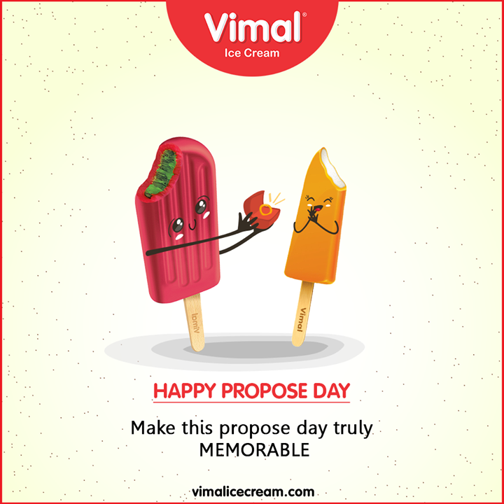 Make this propose day truly memorable.  #HappyProposeDay #LoveForIcecream #IcecreamTime #IceCreamLovers #FrostyLips #Vimal #IceCream #VimalIceCream #Ahmedabad