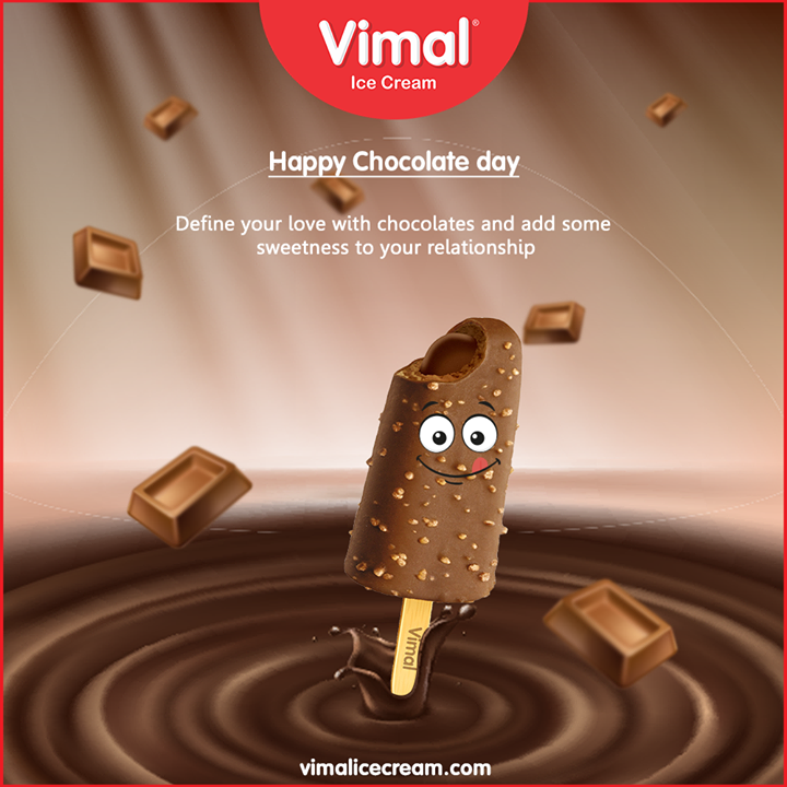 Define your love with chocolates and add some sweetness to your relationship.  #HappyChocolateDay #LoveForIcecream #IcecreamTime #IceCreamLovers #FrostyLips #Vimal #IceCream #VimalIceCream #Ahmedabad