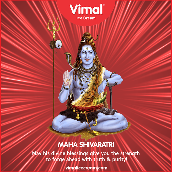 May his divine blessings give you the strength to forge ahead with truth & purity!  #Shivratri #Shivratri2020 #LordShiva #Shiva #MahaShivratri2020 #HarHarMahadev #महाशिवरात्रि #LoveForIcecream #IcecreamTime #IcecreamLovers #FrostyLips #FrostyKiss #Vimal #VimalIcecream #Ahmedabad