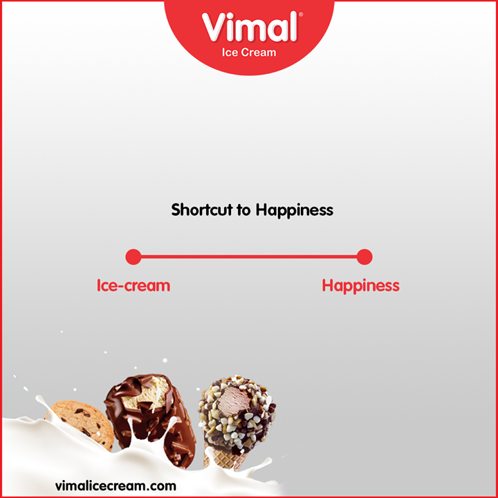 Cover the #ShortestDistance to happiness with our delicious ice-creams.  #TrendingFormat #TrendingNow #Happiness #VimalICeCream