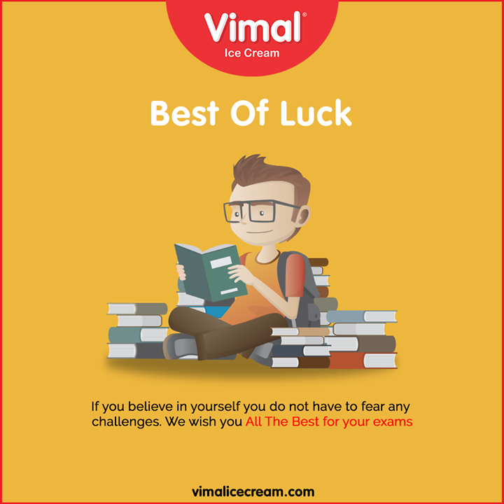 Vimal Ice Cream wishes you good luck for your board exams!  #AllTheBest #Happiness #LoveForIcecream #IcecreamTime #IceCreamLovers #FrostyLips #Vimal #IceCream #VimalIceCream #Ahmedabad