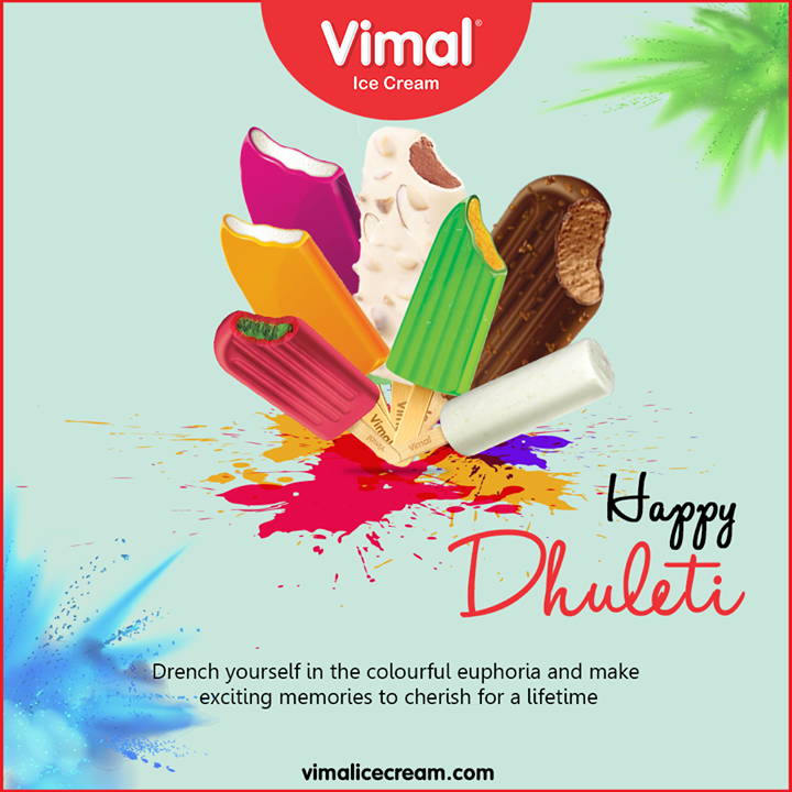 Drench yourself in the colorful esctasy and make exciting memories to cherish for a lifetime.  #HappyHoli2020 #Holi2020 #HappyHoli #होली #Holi #IndianFestival #RangBarse #Colours #FestivalOfColours #Happiness #LoveForIcecream #IcecreamTime #IceCreamLovers #FrostyLips #Vimal #IceCream #VimalIceCream #Ahmedabad