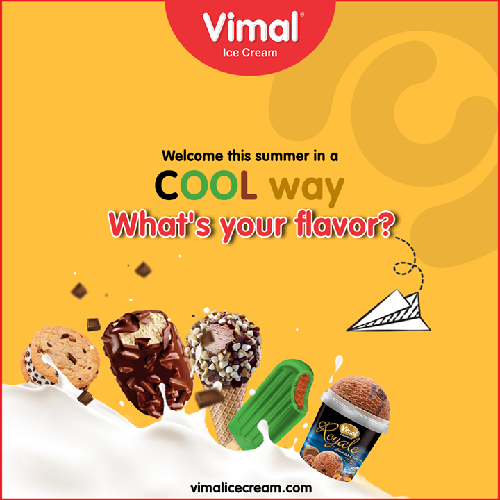 Welcome this summer in a COOL way with our flavorful Ice-creams!!  #Happiness #LoveForIcecream #IcecreamTime #IceCreamLovers #FrostyLips #Vimal #IceCream #VimalIceCream #Ahmedabad
