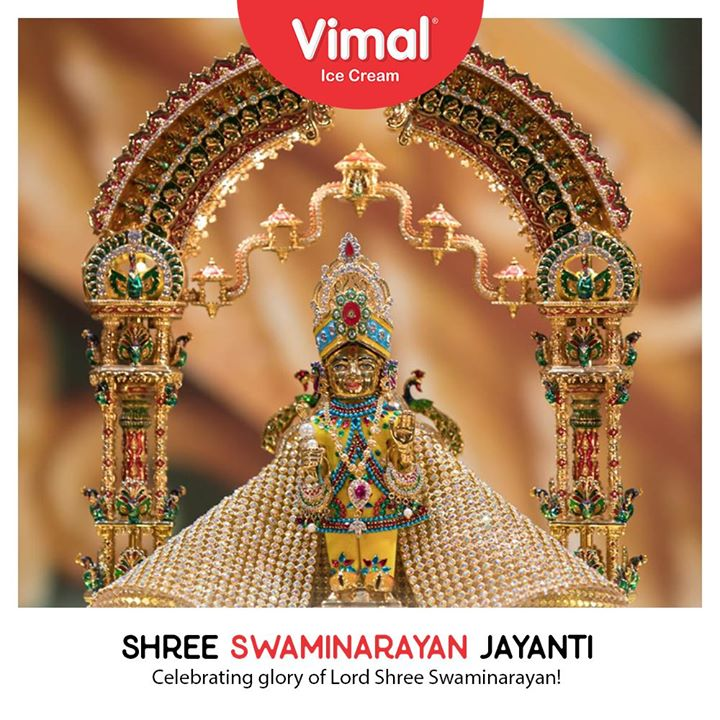 Celebrating glory of Lord Shree Swaminarayan!   #SwaminarayanJayanti #IcecreamTime #IceCreamLovers #FrostyLips #Vimal #IceCream #VimalIceCream #Ahmedabad