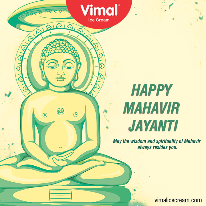 May the wisdom and spirituality of Mahavir always resides you.  #HappyMahavirJayanti #MahavirJayanti #MahavirJayanti2020 #IcecreamTime #IceCreamLovers #FrostyLips #Vimal #IceCream #VimalIceCream #Ahmedabad