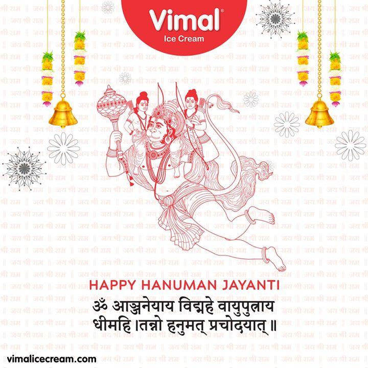 ॐ आञ्जनेयाय विद्महे वायुपुत्राय धीमहि। तन्नो हनुमत् प्रचोदयात्॥  #HappyHanumanJayanti #HanumanJayanti #HanumanJayanti2020 #Vimal #IceCream #VimalIceCream #Ahmedabad