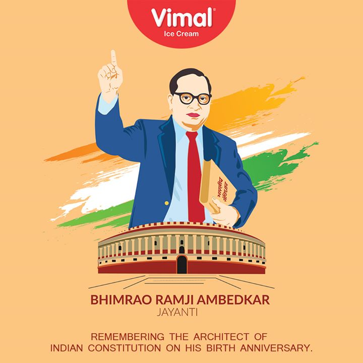 Remembering the architect of Indian Constitution on his birth anniversary.  #AmbedkarJayanti #Vimal #IceCream #VimalIceCream #Ahmedabad