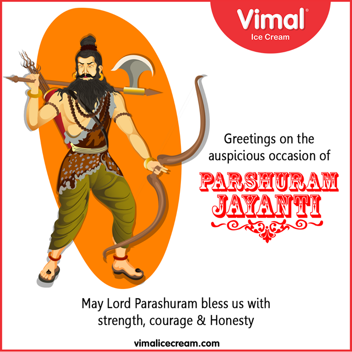 Greetings on the auspicious occasion of #ParshuramJayanti  #Vimal #IceCream #VimalIceCream #Ahmedabad