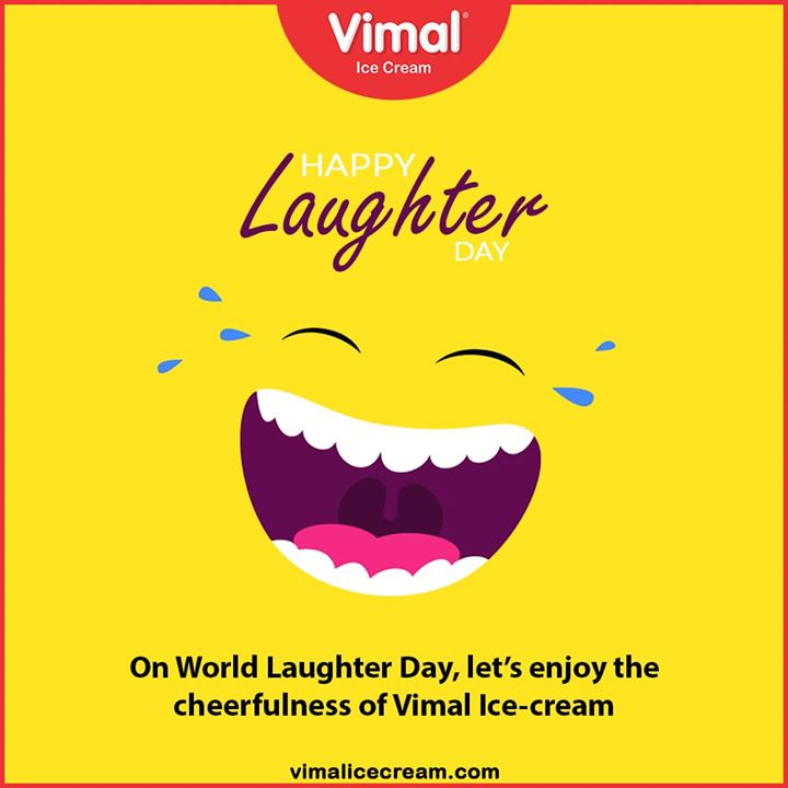 Vimal Ice Cream,  WorldLaughterDay, WorldLaughterDay2020, LaughterDay, IcecreamTime, IceCreamLovers, FrostyLips, Vimal, IceCream, VimalIceCream, Ahmedabad