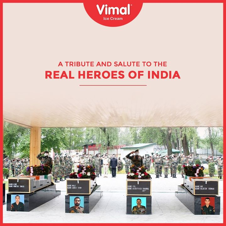 A tribute and Salute to the real heroes of India  #IcecreamTime #IceCreamLovers #FrostyLips #Vimal #IceCream #VimalIceCream #Ahmedabad