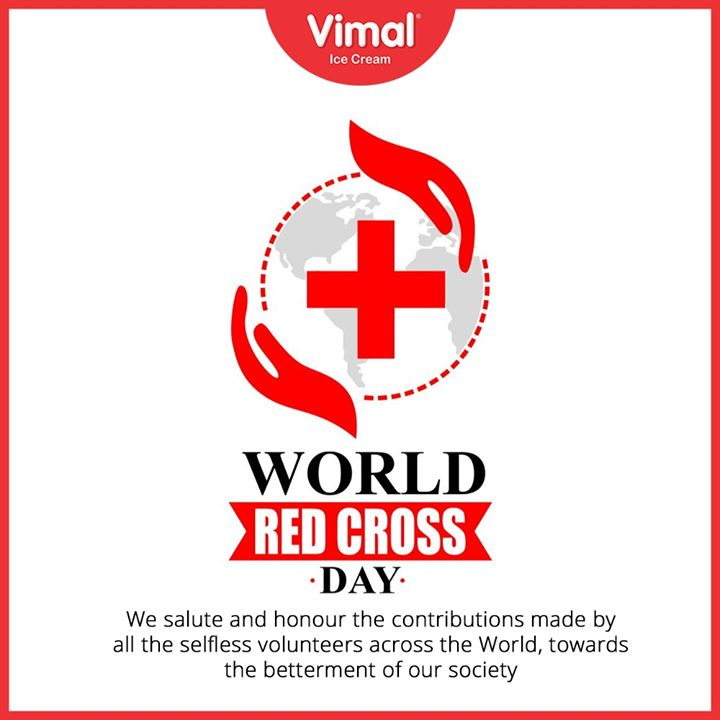 On #WorldRedCrossDay, let us all express our gratitude for the volunteers who are working tirelessly in this difficult situation to fight the #COVID19 pandemic.  #IcecreamTime #IceCreamLovers #FrostyLips #Vimal #IceCream #VimalIceCream #Ahmedabad