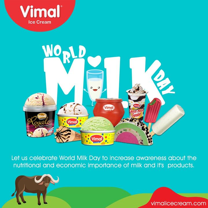 Vimal Ice Cream,  WorldMilkDay, Vimal, VimalIcecream, Ahmedabad