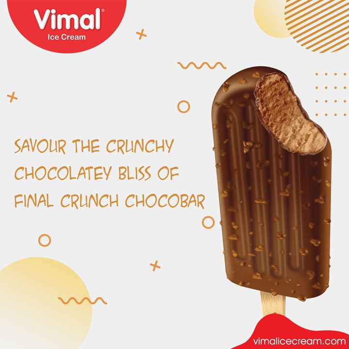 Savour the crunchy and chocolatey bliss of Final Crunch Chocobar from Vimal Ice Cream  #LoveForIcecream #IcecreamTime #IcecreamLovers #FrostyLips #FrostyKiss #Vimal #VimalIcecream #Ahmedabad