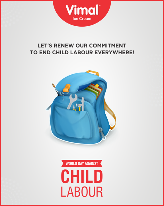 Let's renew our commitment to end Child Labour everywhere!  #WorldDayAgainstChildLabour #StopChildLabour #Vimal #VimalIcecream #Ahmedabad