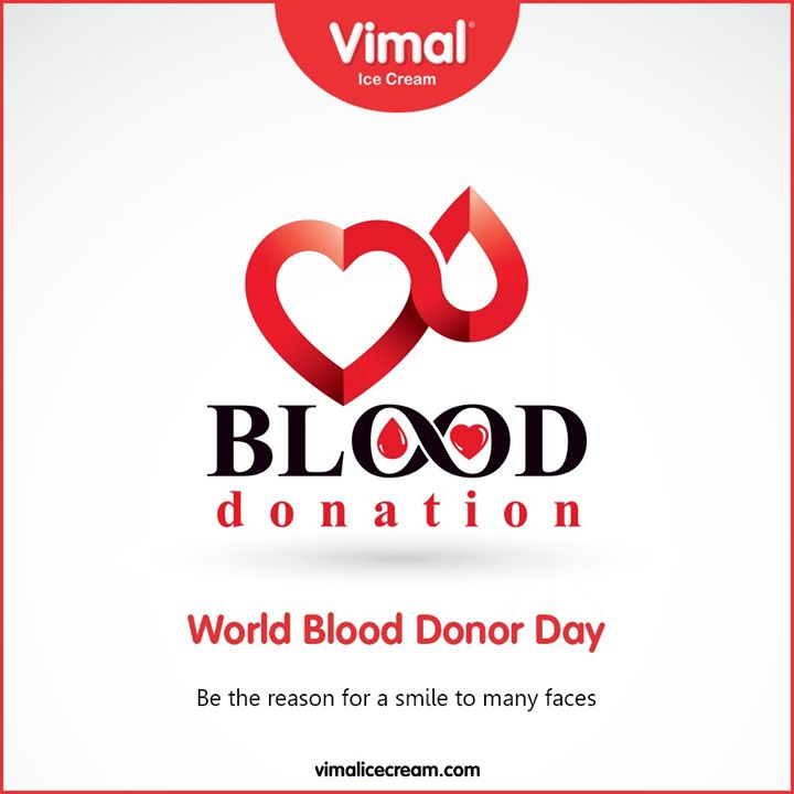 Be the reason for a smile to many faces  #WorldBloodDonorDay #DonateBlood #BloodDonorDay #Vimal #VimalIcecream #Ahmedabad