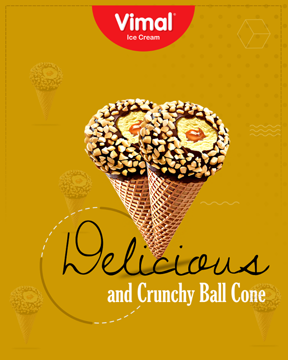 Roll over your Monday Blues with our crunchy and delicious Ball Cone.  #IcecreamTime #IceCreamLovers #FrostyLips #Vimal #IceCream #VimalIceCream #Ahmedabad