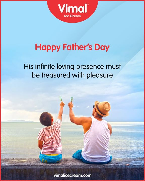 His infinite loving presence must be treasured with pleasure.  #HappyFathersDay #FathersDay #FathersDay2020 #DAD #Father #IcecreamTime #IceCreamLovers #FrostyLips #Vimal #IceCream #VimalIceCream #Ahmedabad