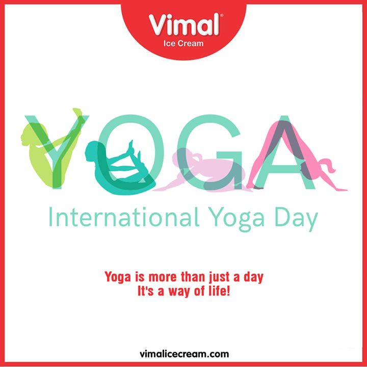 Vimal Ice Cream,  InternationalDayofYoga, InternationalYogaDay, YogaDay, YogaDay2020, Yoga, IcecreamTime, IceCreamLovers, FrostyLips, Vimal, IceCream, VimalIceCream, Ahmedabad