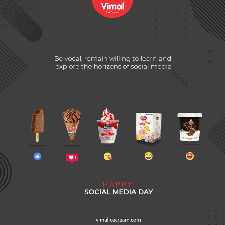 Vimal Ice Cream,  SocialMediaDay, SocialMediaDay2020, WorldSocialMediaDay, SocialMedia, IcecreamTime, IceCreamLovers, FrostyLips, Vimal, IceCream, VimalIceCream, Ahmedabad