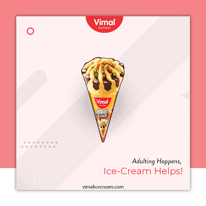 Make your Adult life more fun with an Ice Cream and Slurp from the wide range of Vimal Ice Cream Cone Flavors.   #IcecreamTime #IceCreamLovers #FrostyLips #Vimal #IceCream #VimalIceCream #Ahmedabad