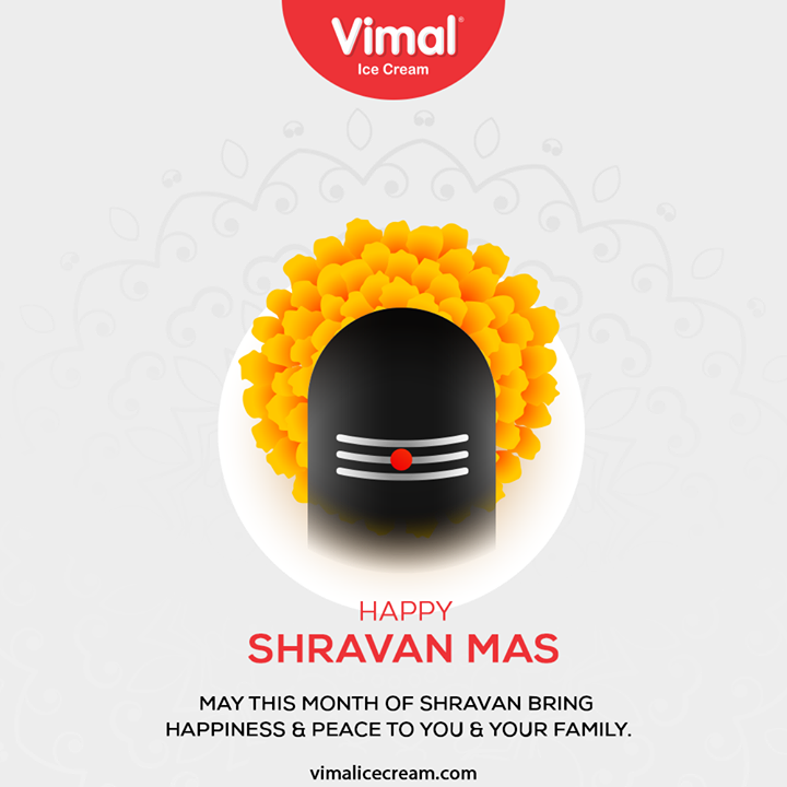May this month of Shravan bring happiness & peace to you & your family.  #Shravan #Shravan2020 #LordShiva #Shiv #PujaProcedure #IcecreamTime #IceCreamLovers #FrostyLips #Vimal #IceCream #VimalIceCream #Ahmedabad