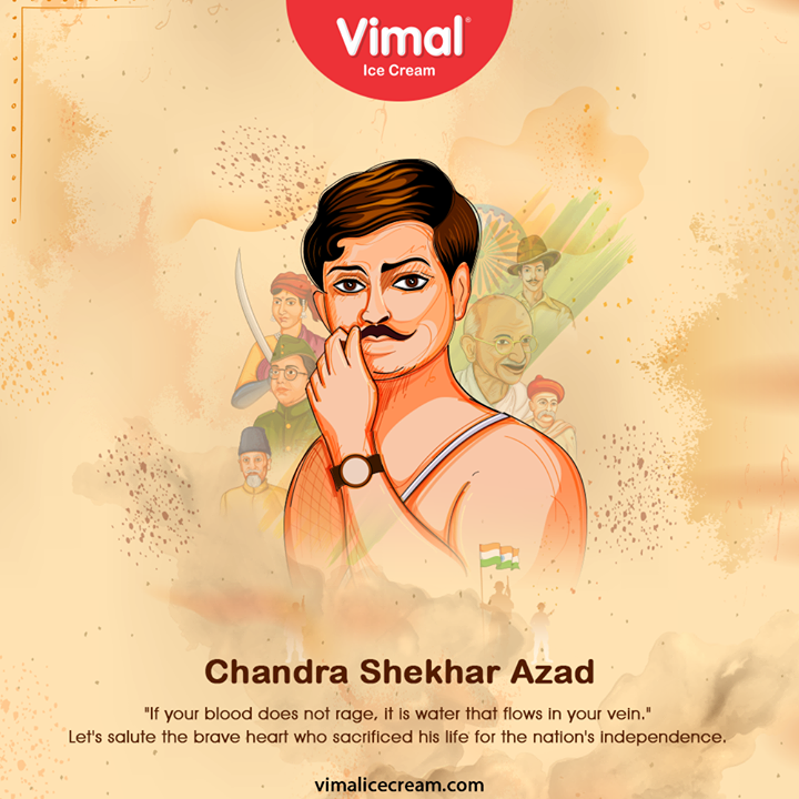 Vimal Ice Cream,  ChandrashekharAzad, चंद्रशेखरआजाद, आजाद, ChandraShekharAzadBirthAnniversary, Azad, IcecreamTime, IceCreamLovers, FrostyLips, Vimal, IceCream, VimalIceCream, Ahmedabad