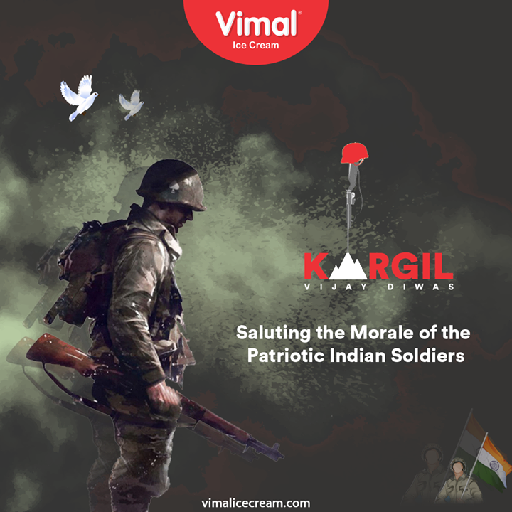 Saluting the morale of the patriotic Indian soldiers.  #KargilVijayDiwas #KargilVijayDiwas2020 #JaiHind #IndianArmy #RememberingKargil #IcecreamTime #IceCreamLovers #FrostyLips #Vimal #IceCream #VimalIceCream #Ahmedabad