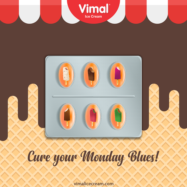 Q: What is the best cure for Monday blues?  A: Delectable Ice Creams from Vimal Ice Cream.  #IcecreamTime #IceCreamLovers #FrostyLips #Vimal #IceCream #VimalIceCream #Ahmedabad