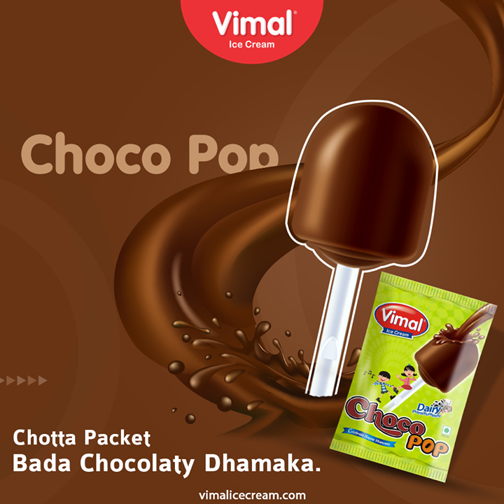 Experience the Bada chocolaty Dhamaka of the Chota Packet Choco Pop By Vimal Ice Cream  #VimalIceCream #IceCreamLovers #FrostyLips #Vimal #IceCream #Ahmedabad