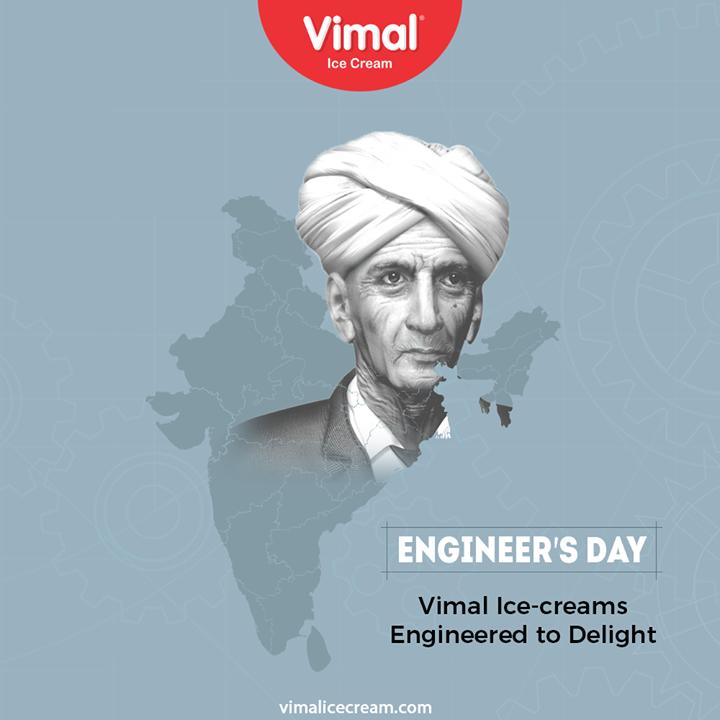 Vimal Ice Cream,  EngineersDay, EngineersDay2020, Engineering, HappyEngineersDay, VimalIceCream, IceCreamLovers, FrostyLips, Vimal, IceCream, Ahmedabad