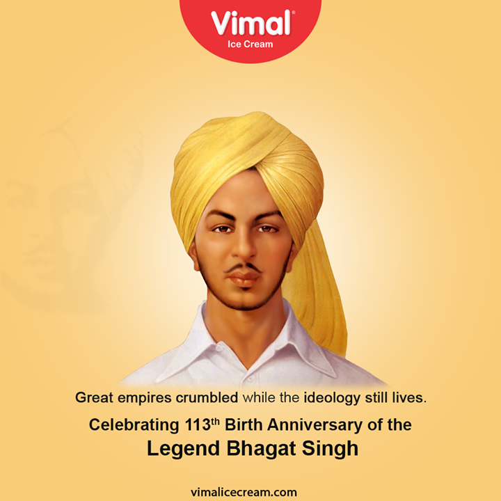 Vimal Ice Cream,  BirthAnniversary, ShaheedEAzam, VeerBhagatSingh, VimalIceCream, IceCreamLovers, Vimal, IceCream, Ahmedabad
