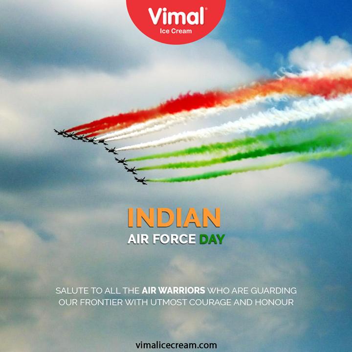 Vimal Ice Cream,  IndianAirForce, IndianAirForceDay, 88IAF, IAF, 8thOct, VimalIceCream, IceCreamLovers, FrostyLips, Vimal, IceCream, Ahmedabad
