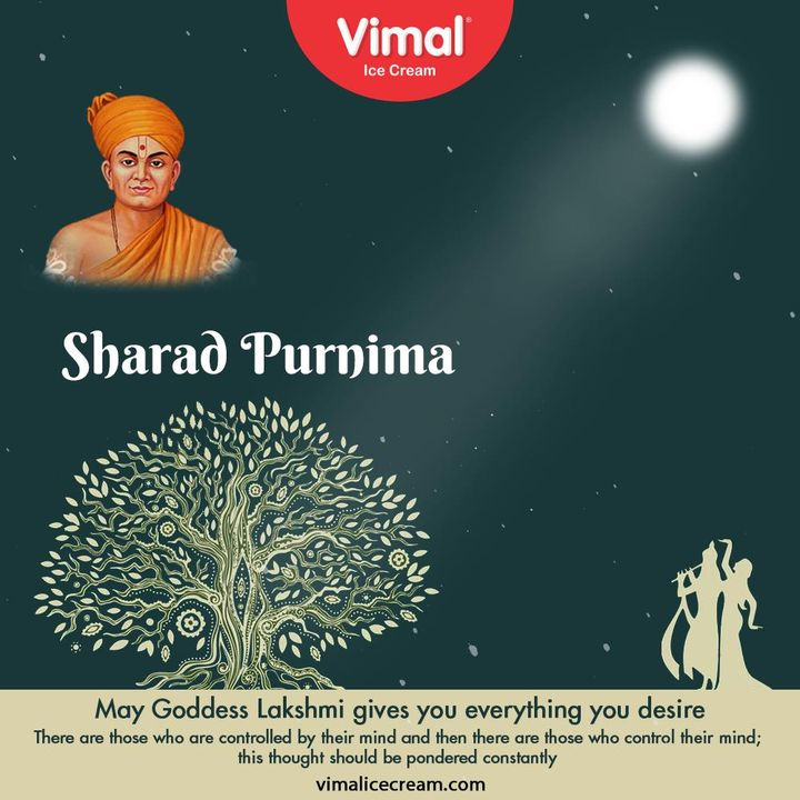 May Goddess Lakshmi gives you everything you desire There are those who are controlled by their mind and then there are those who control their mind; this thought should be pondered constantly  #SharadPurnima2020 #FestiveFeast #VimalIceCream #IceCreamLovers #Vimal #IceCream #Ahmedabad