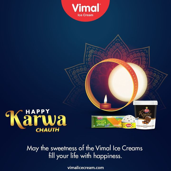 May the sweetness of the Vimal Ice Cream fill your life with happiness.   #HappyKarvaChauth #KarvaChauth #VimalIceCream #IceCreamLovers #Vimal #IceCream #Ahmedabad