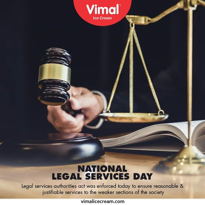 Legal services authorities act was enforced today to ensure reasonable & justifiable services to the weaker sections of the society.  #NationalLegalServiceDay #NationalLegalServiceDay2020 #NLSD #VimalIceCream #IceCreamLovers #Vimal #IceCream #Ahmedabad