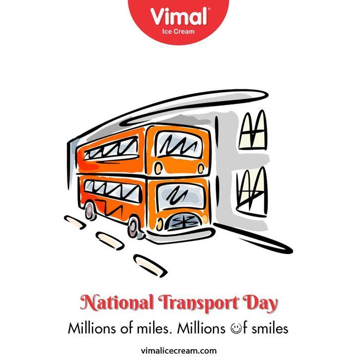 Millions of miles – millions of smiles.  #NationalTransportDay #nationaltransportday2020 #VimalIceCream #IceCreamLovers #Vimal #IceCream #Ahmedabad