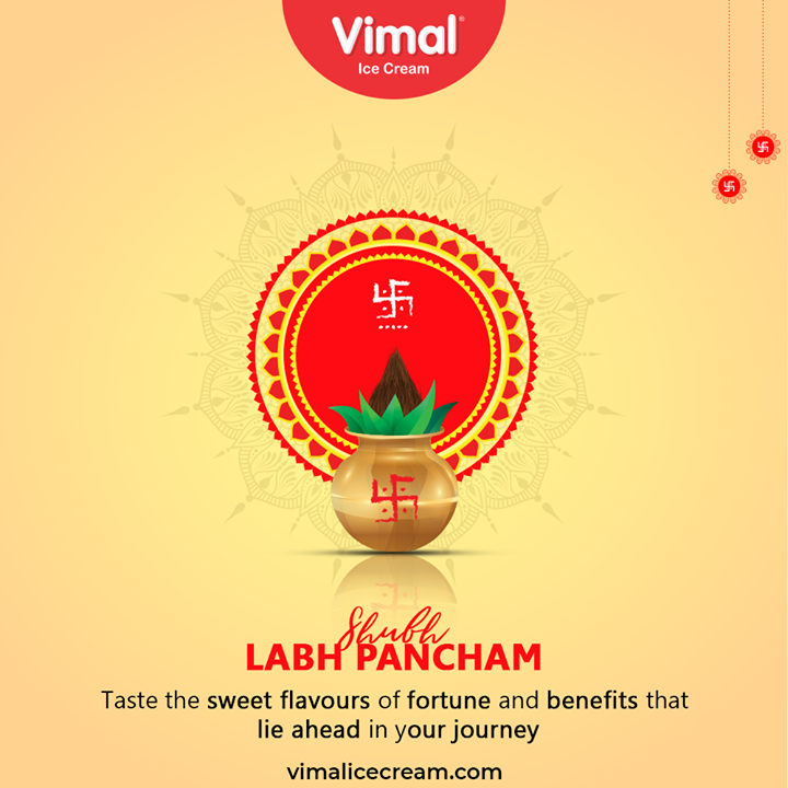 Taste the sweet flavours of fortune and benefits that lie ahead in your journey. Shubh Labh Pancham  #ShubhLabhPancham #LabhPancham #LabhPancham2020 #IndianFestivals #Celebration #HappyDiwali #FestiveSeason