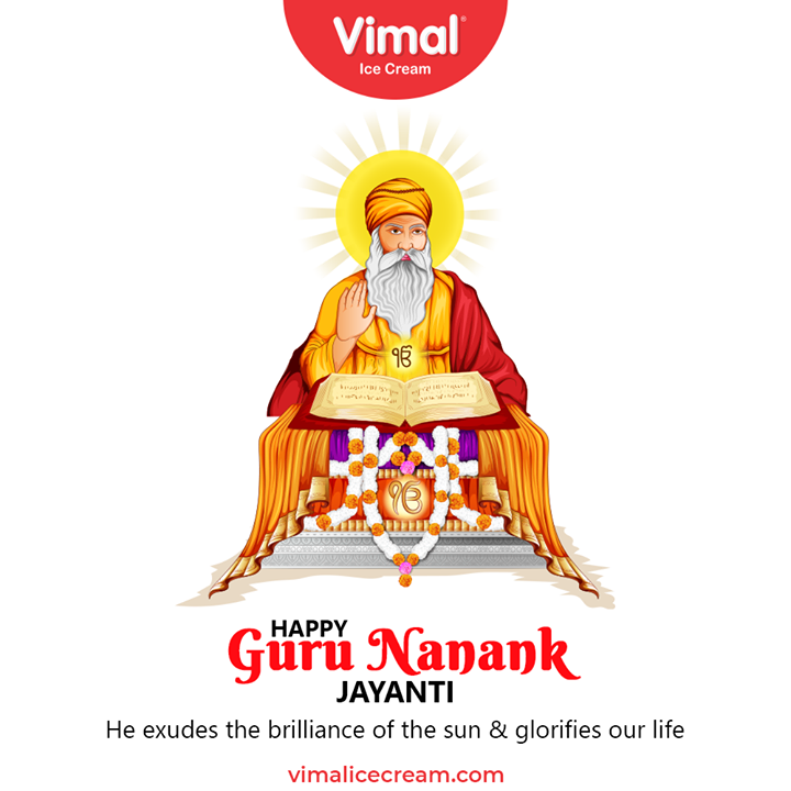 Vimal Ice Cream,  GuruNanakJayanti, GuruPurab, GuruPurab2020, GuruNanakDevJi, VimalIceCream, IceCreamLovers, Vimal, IceCream, Ahmedabad