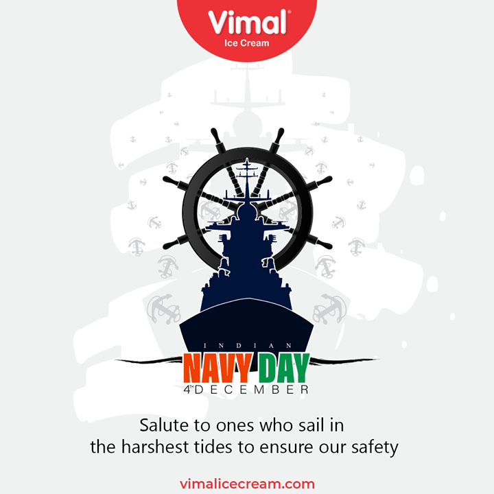 Salute to ones who sail in the harshest tides to ensure our safety  #IndianNavyDay #IndianNavy #IndianNavyDay2020 #NavyDay #Heroes #MarineWarriors #VimalIceCream #IceCreamLovers #Vimal #IceCream #Ahmedabad