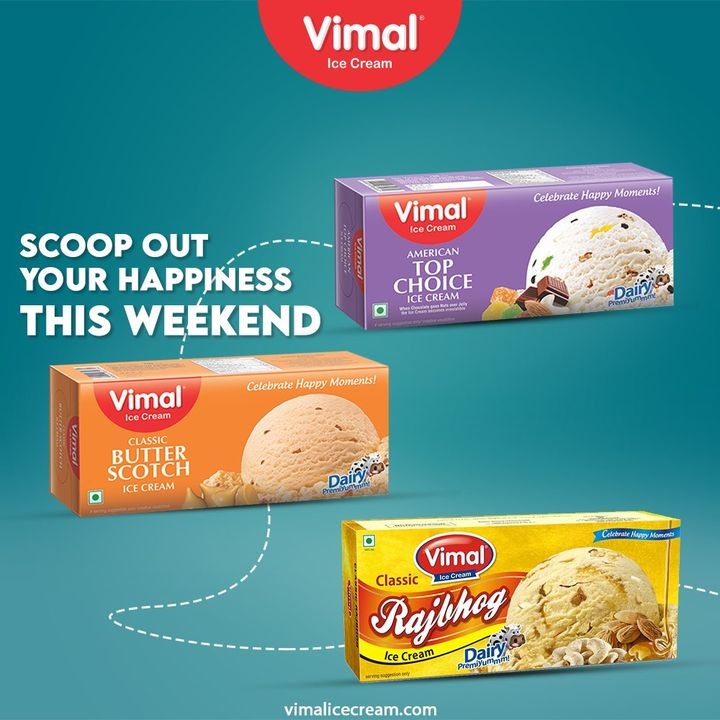 Scoop out your happiness this weekend with the delicious family pack Ice Creams by Vimal Ice Cream.  #VimalIceCream #IceCreamLovers #Vimal #IceCream #Ahmedabad