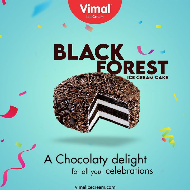 :: Black Forest Ice Cream Cake ::  Celebrate all your happy occasions with chocolaty and delightful Ice-cream Cakes only by Vimal Ice Cream.  #VimalBlackForestIceCreamCake #BlackForestIceCreamCake #VimalIceCream #IceCreamLovers #Vimal #IceCream #Ahmedabad