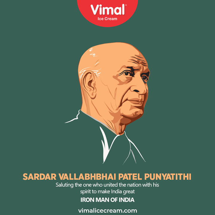 Vimal Ice Cream,  IronManOfIndia, IronMan, SardarVallabhbhaiPatel, SardarVallabhbhaiPatelPuniyatithi, VimalIceCream, IceCreamLovers, Vimal, IceCream, Ahmedabad