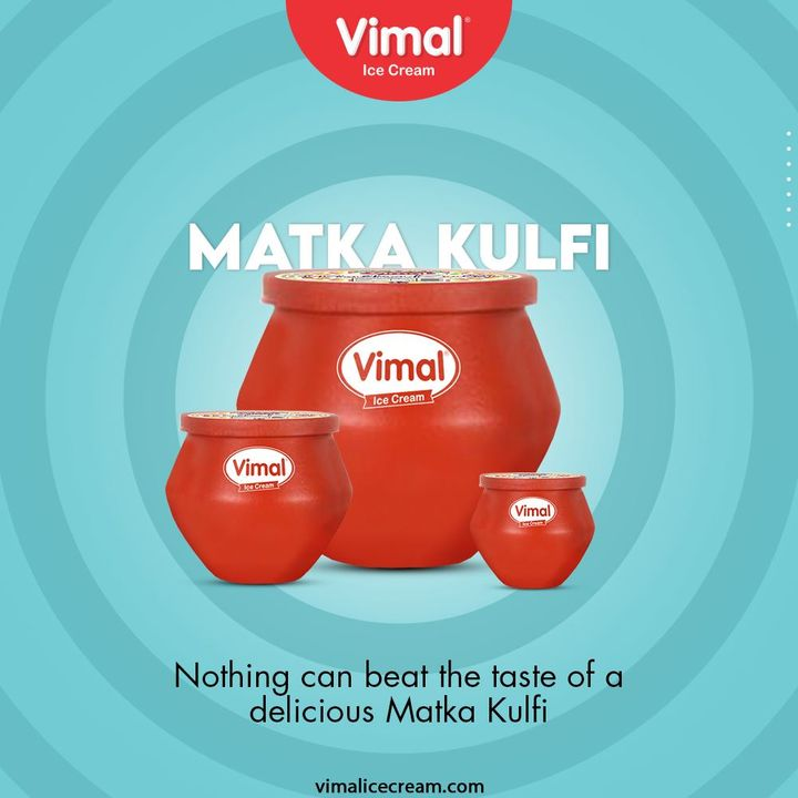 Nothing can beat the taste of a delicious Matka Kulfi. Your favorite traditional kulfi with the goodness of Vimal Ice Cream.  #MatkaKulfi #TraditionalKulfi #VimalIceCream #IceCreamLovers #Vimal #IceCream #Ahmedabad