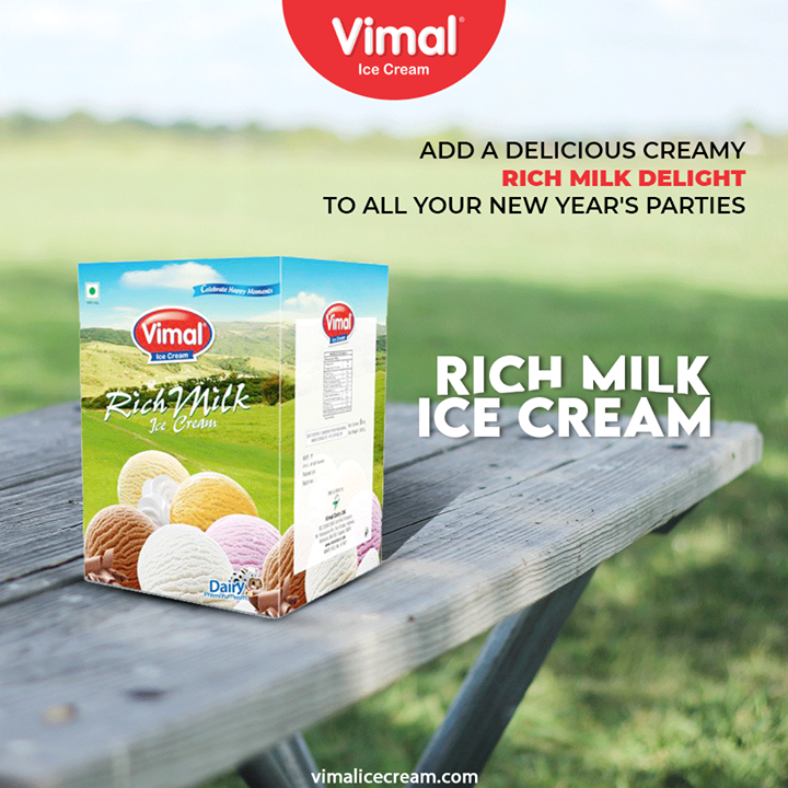 Rich Milk Bulk Pack Add a delicious creamy rich milk delight to all your new year's parties.  #VimalIceCream #IceCreamLovers #Vimal #IceCream #Ahmedabad