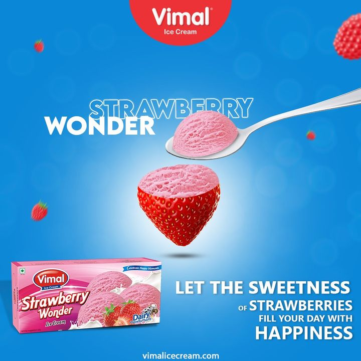 Let the sweetness of Vimal Strawberry Wonder Family Pack fill your day with happiness and joy.  #VimalIceCream #IceCreamLovers #Vimal #IceCream #Ahmedabad
